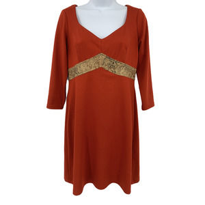 Muse Faux Snakeskin Belt Dress